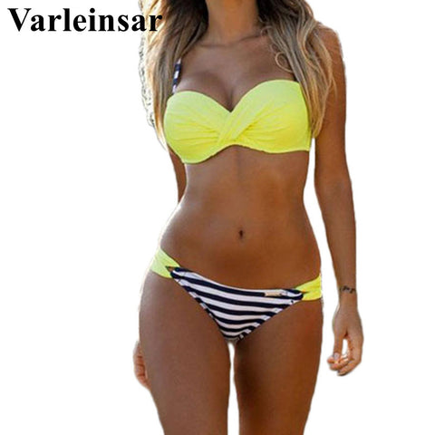 Plus size swimwear women bikini set two pieces