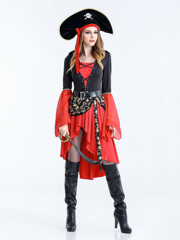 Buy Sexy Pirate Costume Halloween Carnival Fantasia Caribbean Pirate ... ee7ea9353779