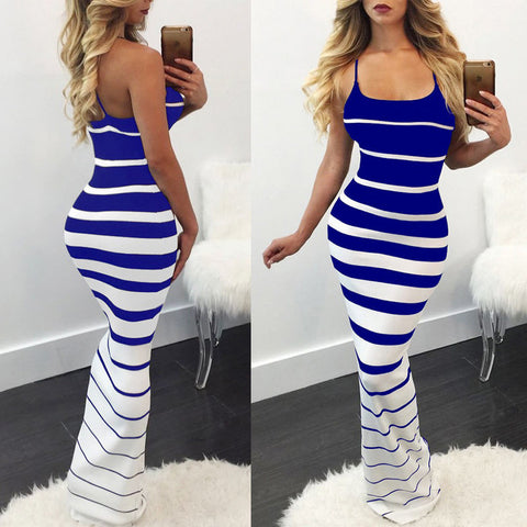 Sleeveless Spaghetti Strap Long Maxi Dress