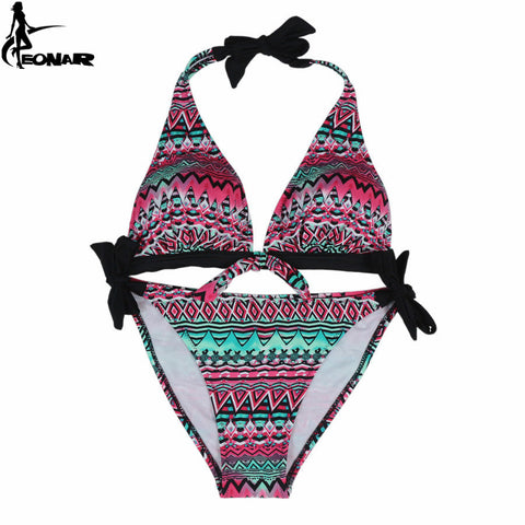 Print Floral Swimsuit Push Up Beach