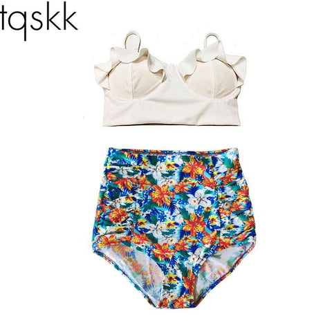 Bikini Swimsuit High Waist Beach