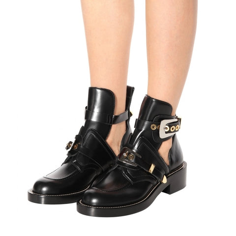 Buckle Chunky Ankle Boots