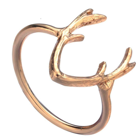 Silver or Gold Ring Deer Antler Ring