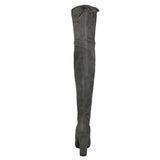 Stretch Slim Thigh High Boots