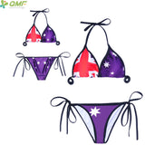 4th July Vintage American Flag Bikinis Set