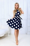 Sleeveless O-Neck Vestidos Polka Dot Dresses