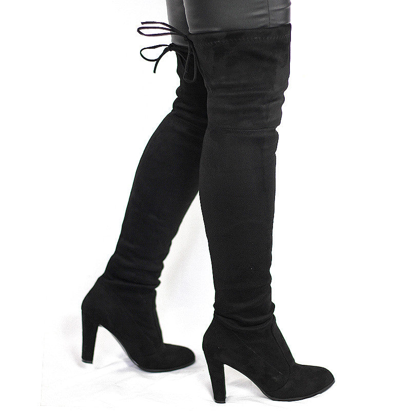 2c765b820e5 Buy Women Faux Suede Thigh High Boots Over the Knee Boot at Marks ...