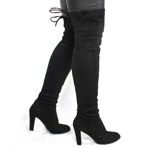 Women Faux Suede Thigh High Boots Over the Knee Boot