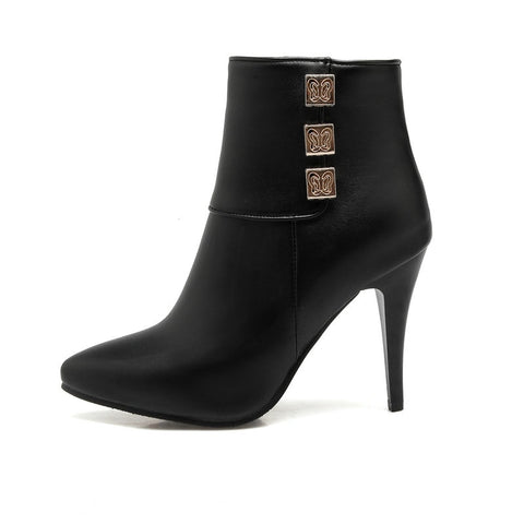 Thin High Heel Ankle Boots