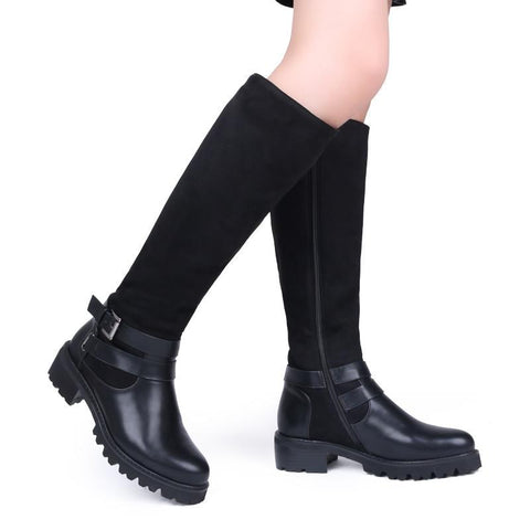 Leather Knee High Boots High Quality