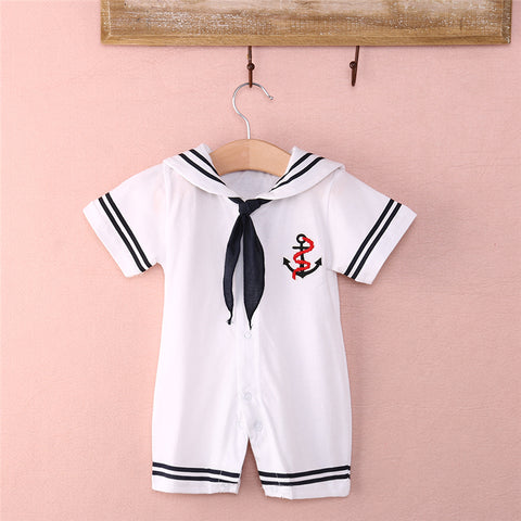 Baby sailor anchor romper navy halloween costume