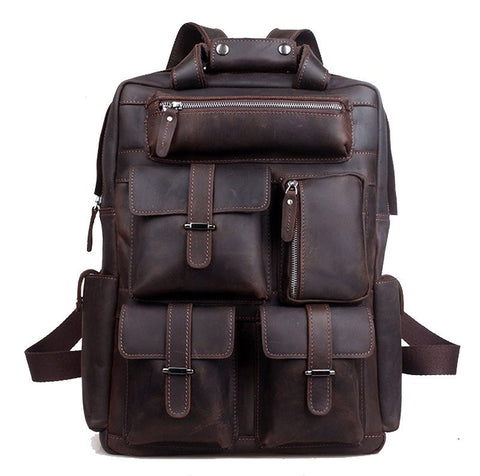 Traveling Leather  LEATHER BACKPACK - Mark's Urban Wear - 1