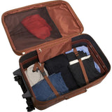 Traveling Leather BROWN LEATHER ROLLING SUITCASE - Mark's Urban Wear - 2