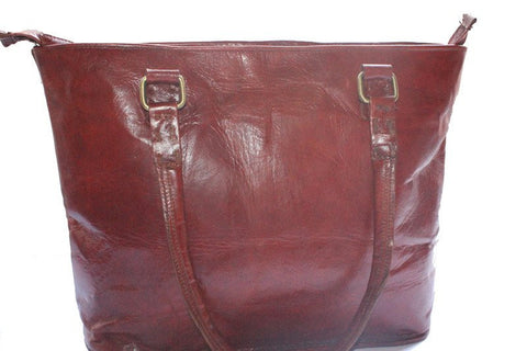 Women's Leather DISTRESSED LEATHER WOMEN'S TOTE - Mark's Urban Wear - 1