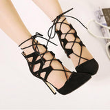 Ankle Strappy Lace-UP Sandals