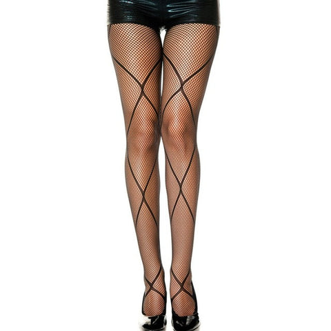 Black sexy fishnet pantyhose stockings for women 8