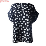 Chiffon plus size Casual Flower Print Tropical T Shirt