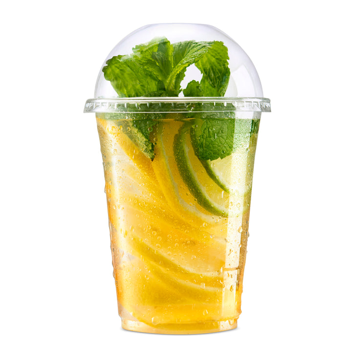 Disposable Plastic Cups with Dome lids for Cold Drinks
