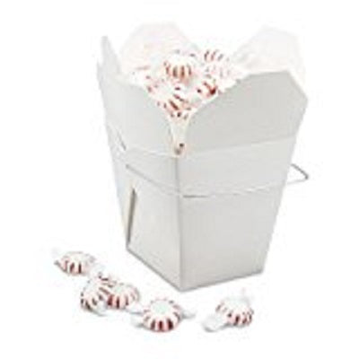 Chinese Take Out Food Boxes White Pack of 50