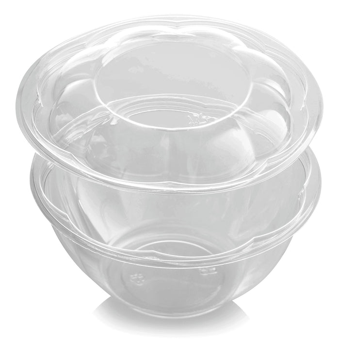 Clear Plastic Salad Bowl with lid