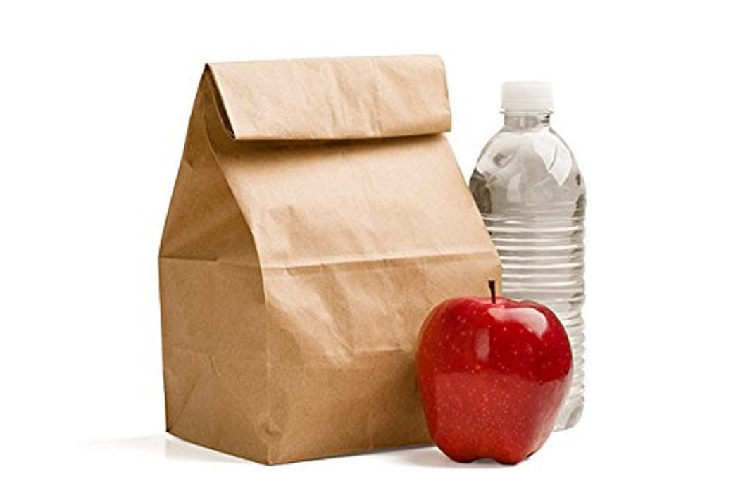 Perfect Brown Durable Paper Lunch Bag for All Ages Pack of 100