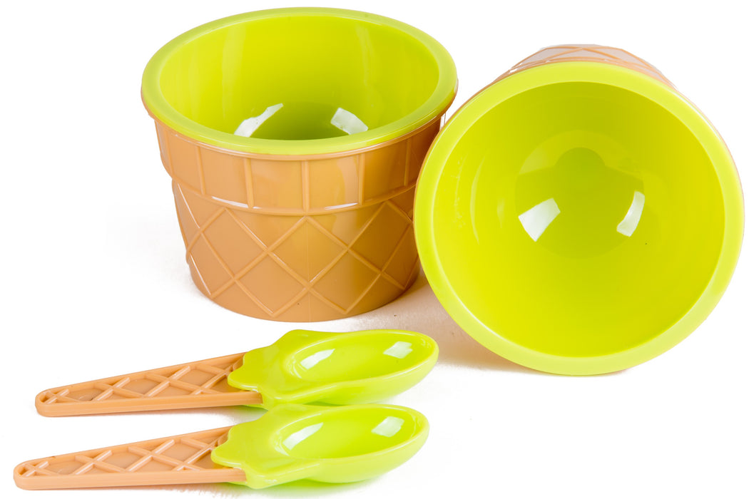 Ice Cream Dessert Cups with Spoons Pack of 12