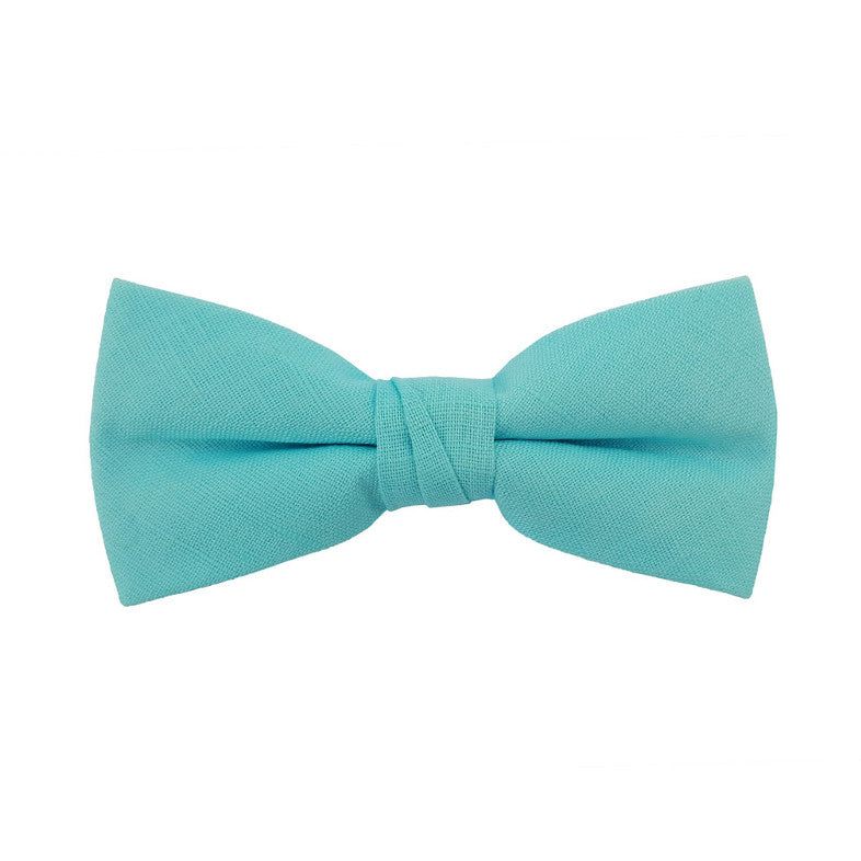 Teal Solid Bow Tie