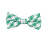 Green Checkered Bow Tie