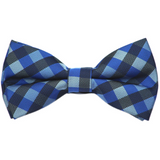 Black and Blue Plaid Bow Tie
