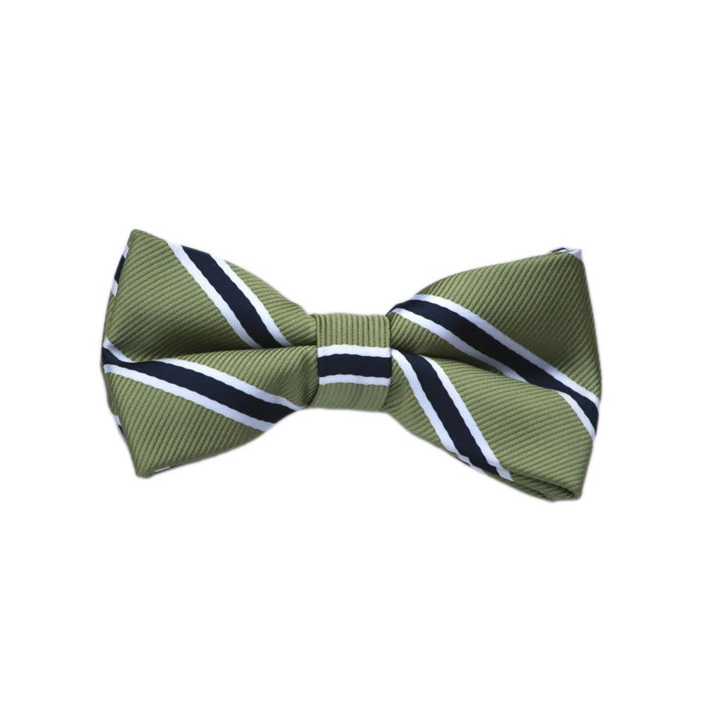 Born to Love Green and Navy Bow Tie