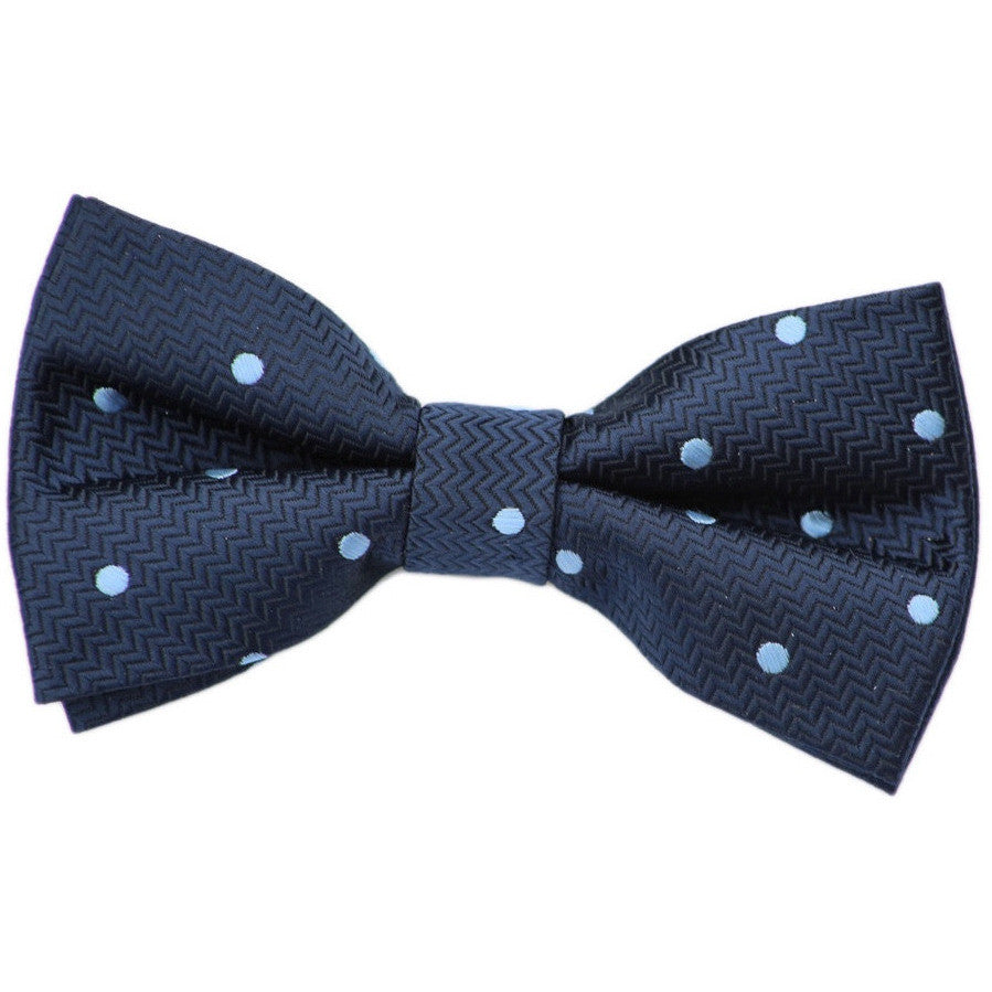 Navy and Blue Dot Bow Tie