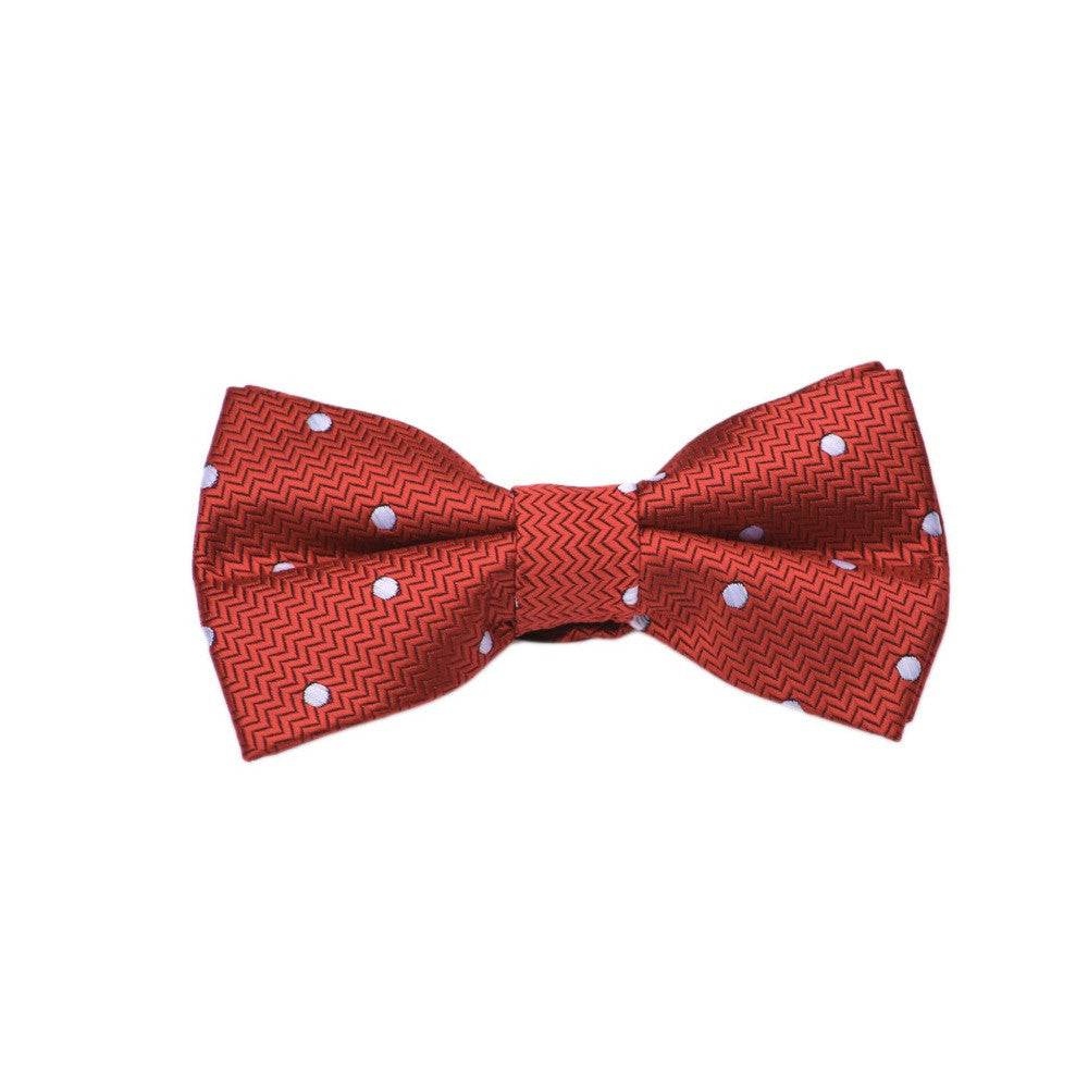 Red with White Dot Bow Tie
