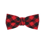 Red and Black Checkered Bow Tie