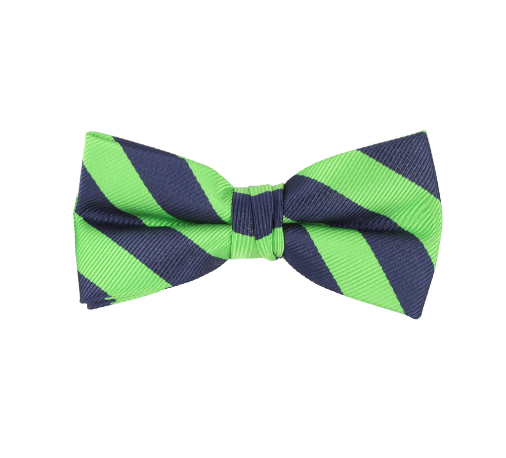 Green Striped Bow Tie