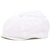 White Newsboy Newborn and Baby Ivy Hat Driver Cap