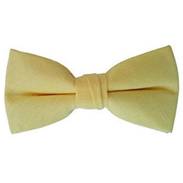 Toddler's Pre Tied Adjustable Bow Tie Solid Linen, Cotton, Polyester, Shinny