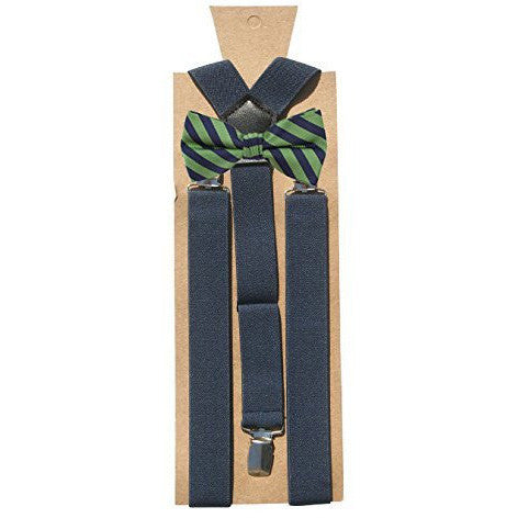 Dapper Kids Suspenders Bow Tie Set