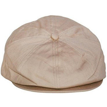 Boy's Tan Newsboy Cap Hat