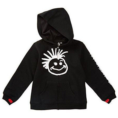 Knuckleheads - Toddler Hooded Sweatshirt Boys Black Logo Pullover Zip Up Hoodie