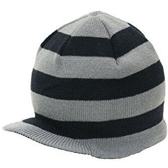Stripe Visor Beanie with Tag