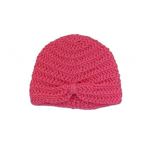 Girls Pink Turban Beanie Hat