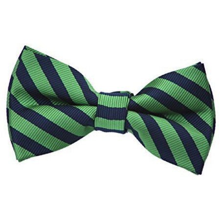 Green and Navy Bow Tie