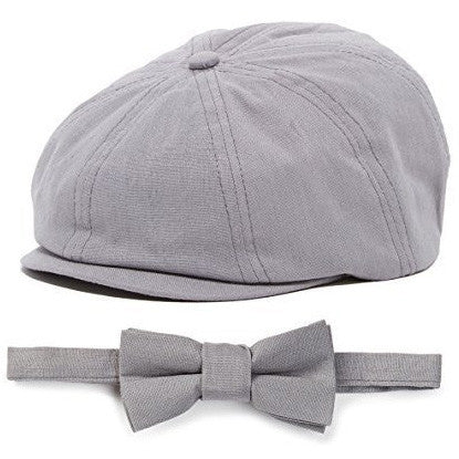 Grey 2 Piece Bow Tie and Hat Ring Bearer Special Occasion Hat