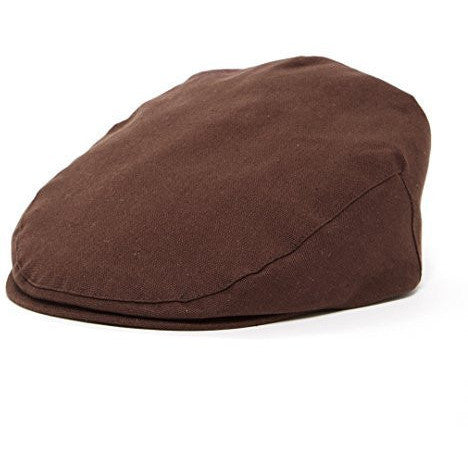 Brown and Tan Herringbone Vintage Driver Cap