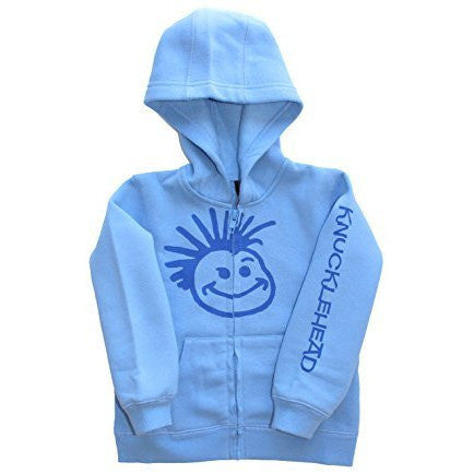 Knuckleheads - Toddler Hooded Sweatshirt Boys Grey Logo Pullover Zip up Hoodie