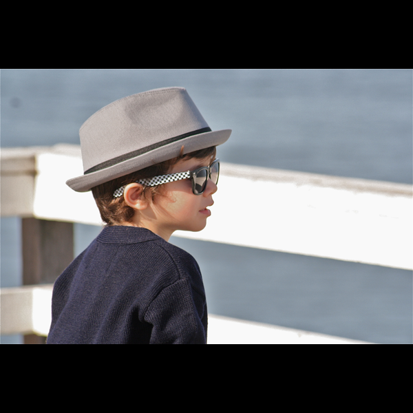 Gray Fedora with Black Band