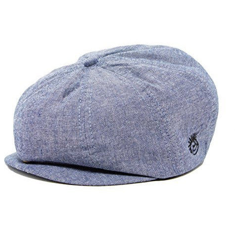 Knuckleheads - Gray Boy's Baby Visor Beanie Hat with Stripes Detail