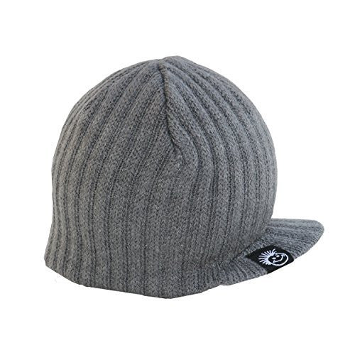 Grey Boy s Baby Visor Beanie with Tag Baby Hat – Born To Love Clothing 50c47c77e53