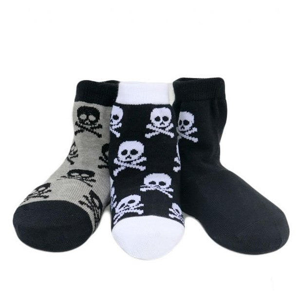 Boy's Organic Cotton Skull Socks Set