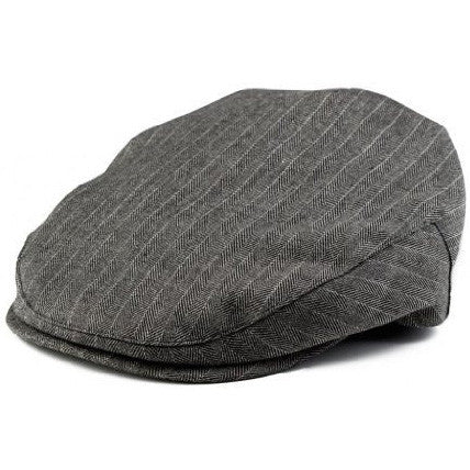 Boy's Black Herringbone Ivy Page Boy Ring Bearer Cap
